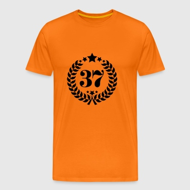 37th Birthday Wreath - Anniversary Wreath - Men's Premium T-Shirt