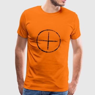 Circle and big plus out of level indicators - Men's Premium T-Shirt