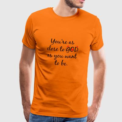 God Kerk Chapel Jesus loves you nabijheid van de Liefde - Mannen Premium T-shirt