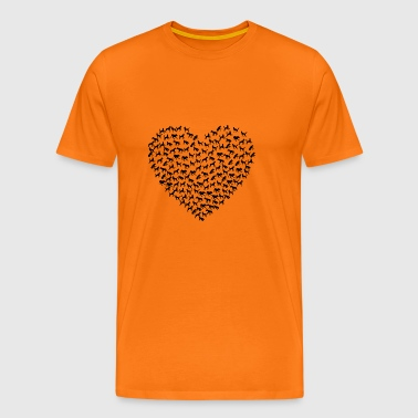 Dogs Dog Heart Dog Shirt - Men's Premium T-Shirt