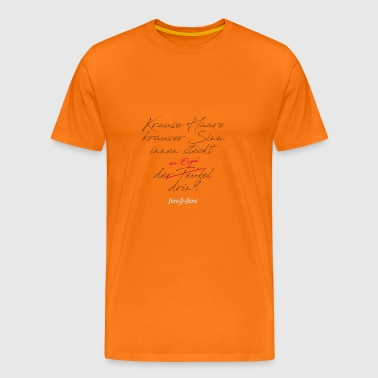 Curly hair, curly sense, inside is ... - Men's Premium T-Shirt