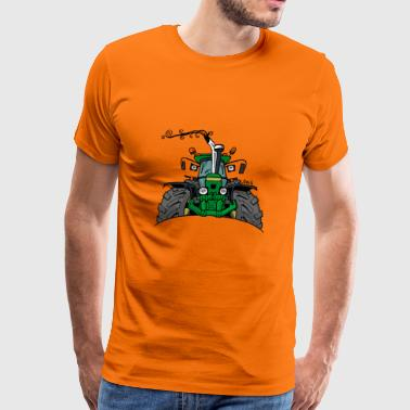 0350 green tractor - Men's Premium T-Shirt