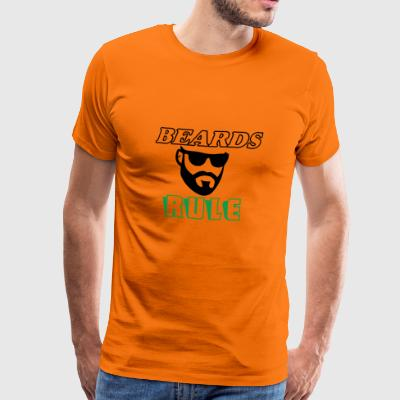 Beards Rule - Premium T-skjorte for menn