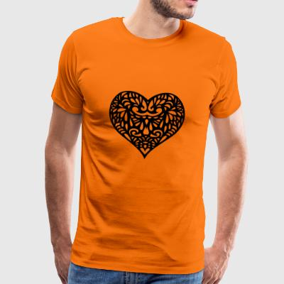 Decorated heart - Men's Premium T-Shirt