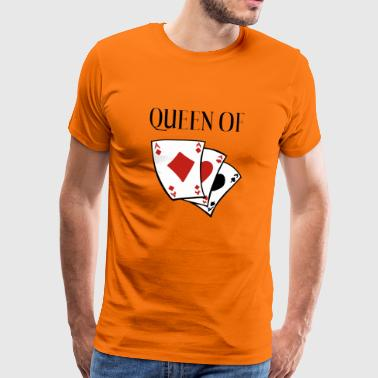 Queen of Card Games - Queen - Heart Lady - Men's Premium T-Shirt