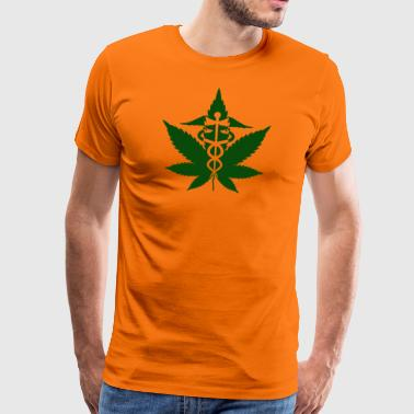 Caduceus in Grass - Männer Premium T-Shirt