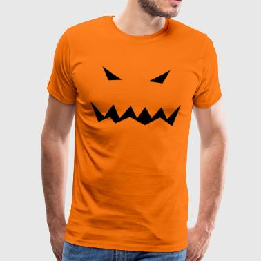 Pumpkin Face Scary Halloween Gift Idea - Men's Premium T-Shirt