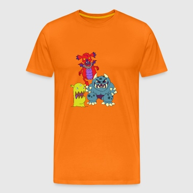 Children's scary monsters terrible shapes - Men's Premium T-Shirt