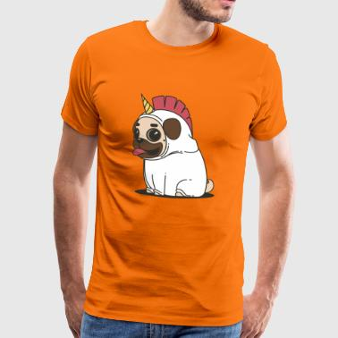 Unicorn unicorn pug pug dogs dogs animal - Men's Premium T-Shirt