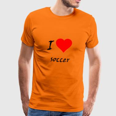 I love soccer / I love / souvenir - Men's Premium T-Shirt