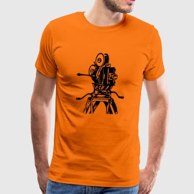 Movie Camera - Oldschool retro cartoon print - Men's Premium T-Shirt