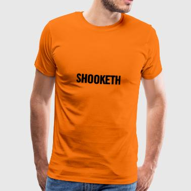 Shooketh Black - Mannen Premium T-shirt