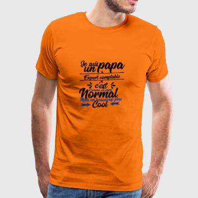 Ekspert revisor far gave - Herre premium T-shirt