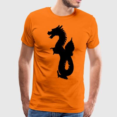 Eastern Dragon - Premium-T-shirt herr