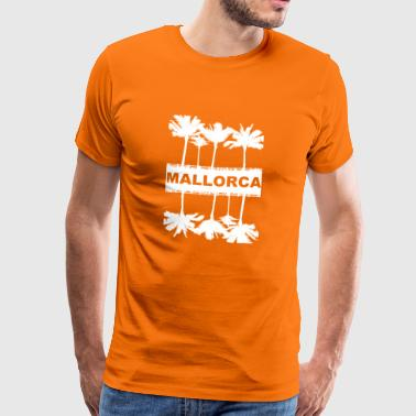 Mallorca - Malle - with palm trees - gift idea - Men's Premium T-Shirt