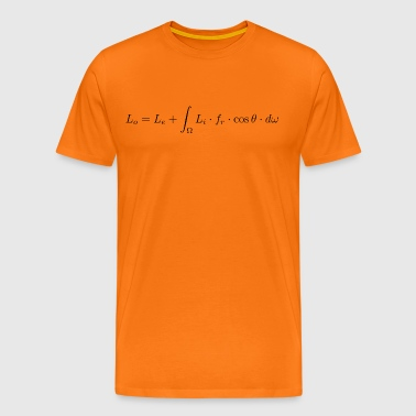 Transport equation of light. - Men's Premium T-Shirt