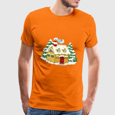 Christmas house - Men's Premium T-Shirt