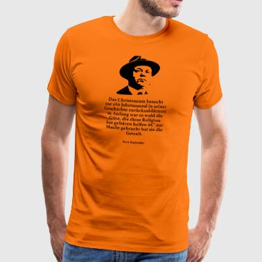 Tucholsky: Christianity needs only one year - Men's Premium T-Shirt