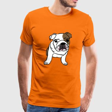 Bulldog - Premium T-skjorte for menn