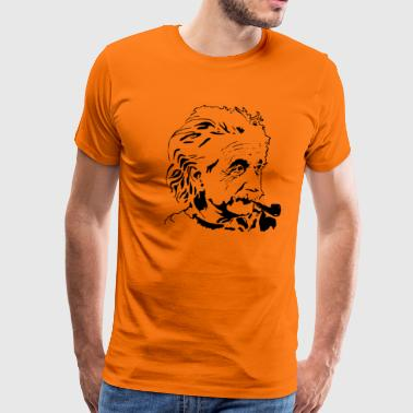 einstein albert, les scientifiques - T-shirt Premium Homme