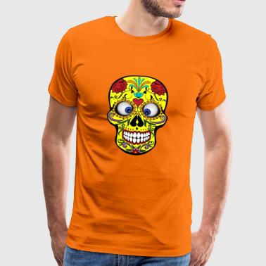 Squinting Colorful Skull Skull Gift - Men's Premium T-Shirt