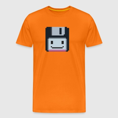 8-bit retro floppy disk - Men's Premium T-Shirt