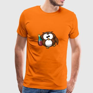 Drinker Owl - Men's Premium T-Shirt