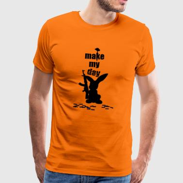 The Rambo Bunny is approaching. Idea, gift - Men's Premium T-Shirt