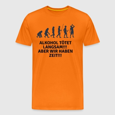 Witziges Party Alkohol Design - Männer Premium T-Shirt