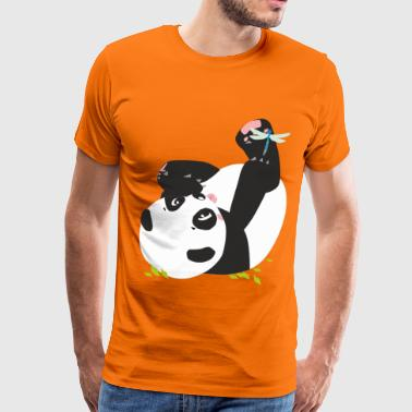 Jo the panda and mammal dragonfly - Men's Premium T-Shirt