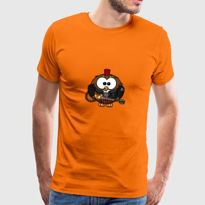Rocker Owl - Men's Premium T-Shirt