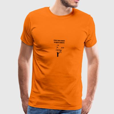 People who shower in under 5 minutes - Männer Premium T-Shirt