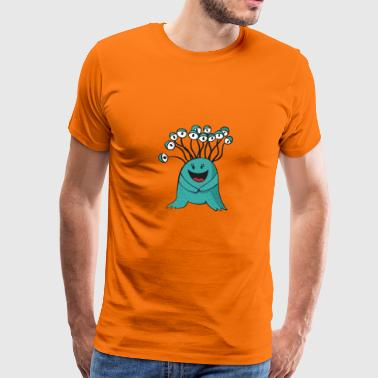 Grappige Monster Gift Halloween Horror Medusa - Mannen Premium T-shirt