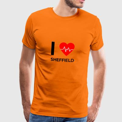 I Love Sheffield - Jeg elsker Sheffield - Premium T-skjorte for menn