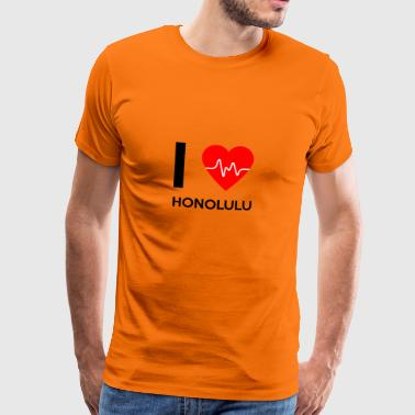 I Love Honolulu - I Love Honolulu - Herre premium T-shirt