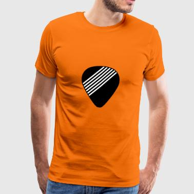 guitar pick strings - Mannen Premium T-shirt