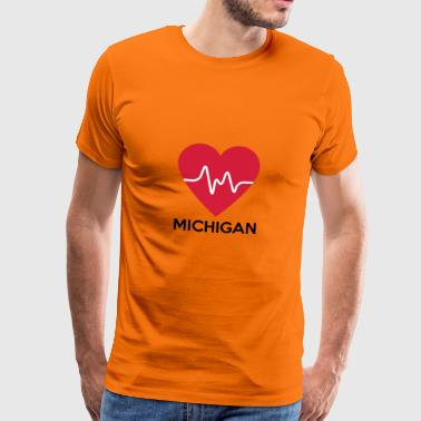 hart Michigan - Mannen Premium T-shirt