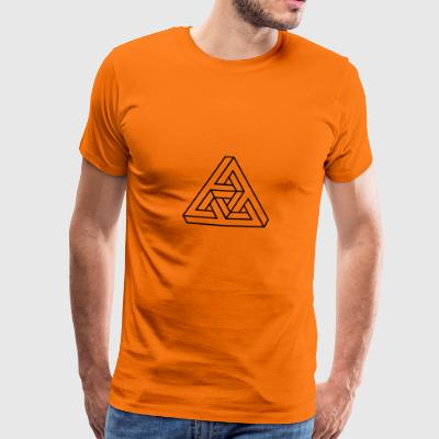 Optical Illusion, Impossible Triangle, mathematics - Men's Premium T-Shirt