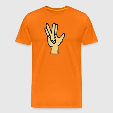 spock hand fun - Men's Premium T-Shirt