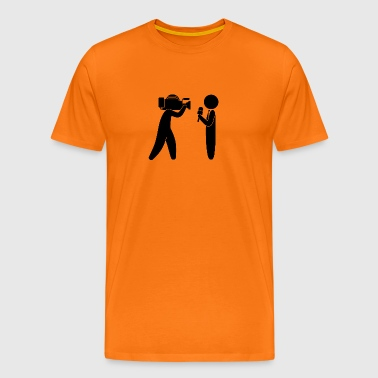 Reporter Speaks In Front Of Camera - Men's Premium T-Shirt