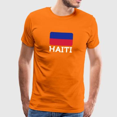 National Flag Of Haiti - Men's Premium T-Shirt