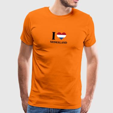 I love Nederland - Men's Premium T-Shirt