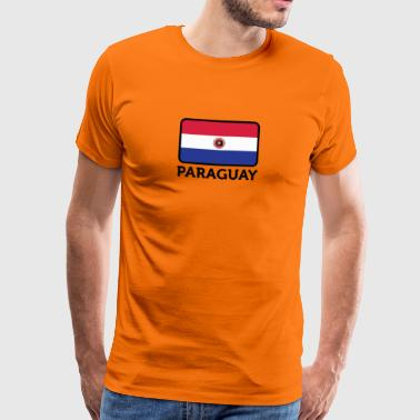 National Flag Of Paraguay - Men's Premium T-Shirt