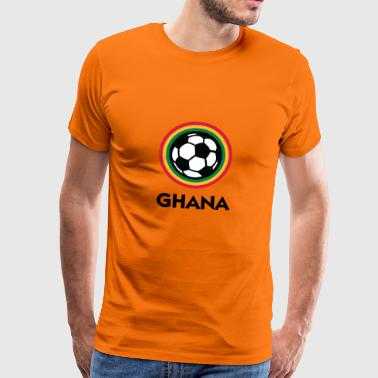 Football Crest Of Ghana - T-shirt Premium Homme