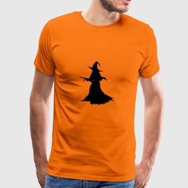 Witch with Assault Rifle / AK for Halloween - Men's Premium T-Shirt