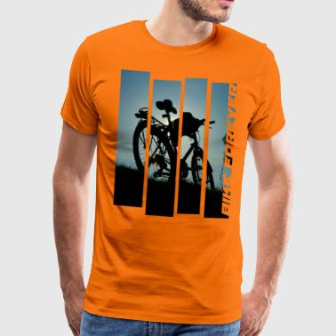 Vélo VTT Vélo Trip Tour Team sunset - T-shirt Premium Homme