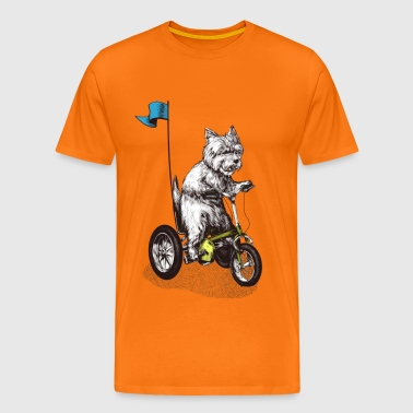 West Highland Terrier Tricycle - Mannen Premium T-shirt