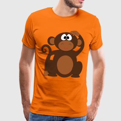 Pelo the monkey - Men's Premium T-Shirt