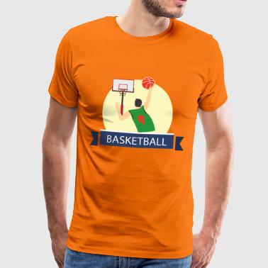 Dunk Basketball - Premium T-skjorte for menn