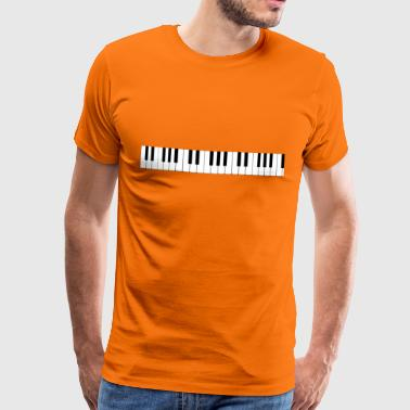 The keyboard of the piano - Men's Premium T-Shirt